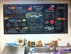 Richpond Market & Deli Chalkboard Menu Board Makeover by ArtFX Design Studios, via Flickr