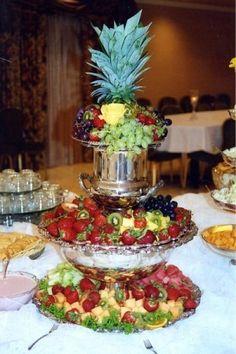 Wedding Reception Fruit Table
