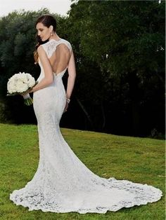 Cool Backless Lace Mermaid Wedding Dress 2018
