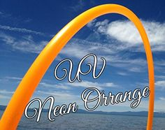 """36"""" 3/4 UV Colored PolyPro Neon Orange UV Practice Hula Hoop. 36"""" Outside Diameter. Made with 3/4"""" PolyPro Material. Bright Reddish Orange color. Stands out in the sun. Beautiful!. Comes with snap button so you can coil down the hoop for travel - the picture with the double hoop is it coiled down. We will sand the inside of the hoop or add an inside line of gaffers tape for free. Just message us if you'd like either."""