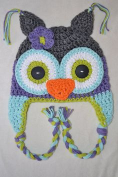 Crochet owl hat owl hat crochet baby to teen by VioletandSassafras, $26.00