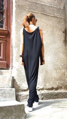 NUEVA colección AW 2015 negro viscoso mono / mono por Aakasha