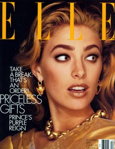 Elaine Irwin by Gilles Bensimon for Elle December 1991 Fashion Magazine Cover, Fashion Cover, Magazine Cover Design, Magazine Covers, Life Reimagined, Best Fashion Magazines, Elaine Irwin, 1990s Supermodels, 90s Makeup