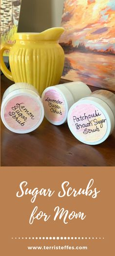 Recipes for small batch sugar scrubs for the women in your life!  #sugarscrub #smallbatch