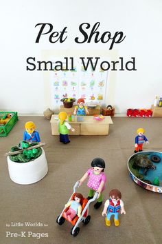 Pet Shop Small World Play for Preschool. A fun, meaningful way to support oral language, creativity, imagination and more! Perfect for a Pet theme with your preschool or Pre-K kids! - Pre-K Pages