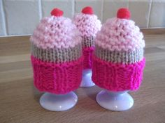 Knitting pattern  Egg Cosy  Cupcake style. by LoopsandLavender, £2.00
