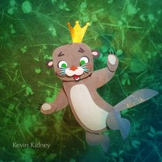 Magic Sea Otter, paper stop-motion puppet designed and fabricated by Kevin Kidney #KevinKidney #stopmotion #animation #BixPix #hmh #curiousworld #MoonlightStorytime