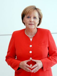 Angela Merkel~Germany's Chancellor. Super powerful political sister in what's too often considered the dominion of men.