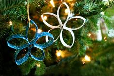 Homemade Christmas Ornaments for Kids Strap Style Flowers