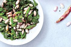 No Refrigerate Bean Salad with Lemon and Herbs