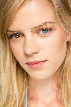 Rodarte Spring 2015 Ready-to-Wear Makeup ----- Kadri Vahersalu, model with heterochromia