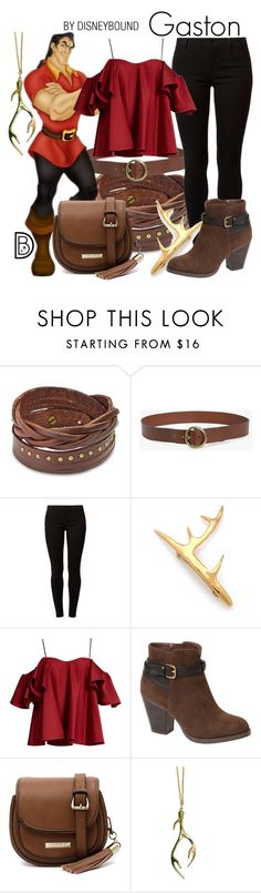"""Gaston"" by leslieakay ❤ liked on Polyvore featuring West Coast Jewelry, 7 For All Mankind, Dorothy Perkins, Pluie, Anna October, Ball Band, Cooper St, disney, disneybound and disneycharacter"