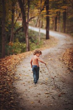 Toddler boy outdoor photo shoot Wooded path just jeans boys love sticks. Outdoor Toddler Photography, Little Boy Photography, Kids Photography Boys, Photography Ideas, Toddler Boy Pictures, Little Boy Pictures, Baby Pictures, Boy Photo Shoot, Photo Shoots