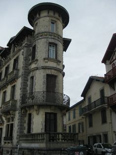The architecture of Saint-Jean-de-Luz, France.