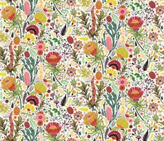 Botanical bloom by fizah_malik, click to purchase fabric