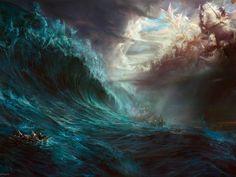 Poseidon And Hephaestus Battle