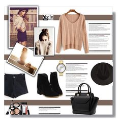 """SheIn 8 (7)"" by penny325 ❤ liked on Polyvore featuring moda, Arche, Laura Geller, Nixon y Sheinside"