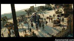 Los Autobots, los soldados y los decepticons.