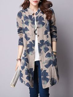 Long Sleeve Shawl Collar Buttoned Coats - JustFashionNow.com