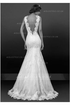 Sexy Trumpet/Mermaid Straps Beading&Sequins Lace Sweep/Brush Train Wedding Dresses
