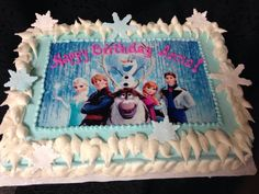 Frozen sheet cake