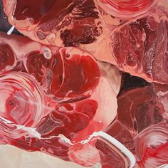 Bevan Ramsay - Soft Tissue - Meat #2 oil painting 122 x 122cm 2013