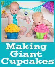 Making Giant Cupcake
