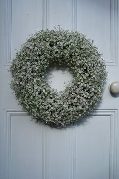 A fresh wreath for your door.