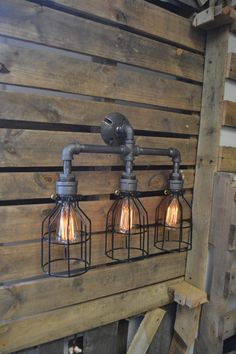 Our industrial wall lights give a subtle industrial look for homes, workspaces and retail. Industrial wall lighting works well in bathrooms or as secondary lighting in a living room. Pipe Lighting, Edison Lighting, Vanity Lighting, Wall Sconce Lighting, Sconces, Pendant Lighting, Industrial Bathroom Lighting, Industrial Wall Lights, Industrial Pipe