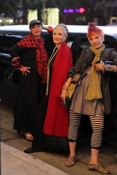ADVANCED STYLE, That's a whole lotta style in one photo! Love it!