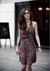 Red Cute Bohemian V-Neck Dress - $8.76 on @ClozetteCo