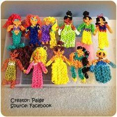 Rainbow loom princesses