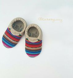 Sale! Peruvian Baby Moccasins/ Baby Moccs/ Baby Moccasins Leather/ Baby Moccassins/ Serape Baby Moccasins/ Aztec Baby Moccasins