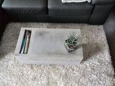 betontisch, betonmöbel,tisch aus beton, couchtisch