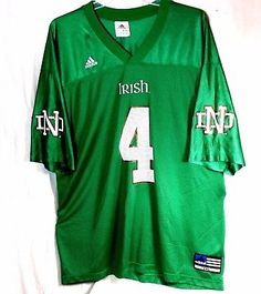 Notre Dame Fighting Irish NCAA Adidas Adult XXL Football Jersey Green #4
