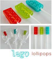These - look - AWESOME!  Very smart way to make jolly rancher Lego suckers!