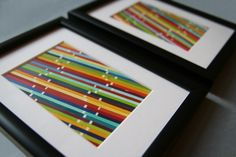 Paint Chip Art: I love the paint chip cards from the hardware store and always thought they were such a crafting opportunity, but for what?  This I would actually do & use.