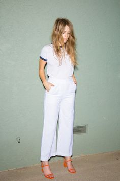 M.I.H. JEANS | Nautical Pant-White