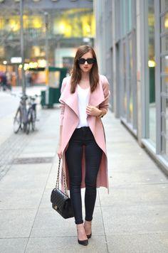 Missguided coat Acne top Topshop jeans Jimmy Choo heels Chanel bag http://FashionCognoscente.blogspot.com