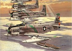 Douglas A-1 Skyraiders of the USS Independence - Don Greer