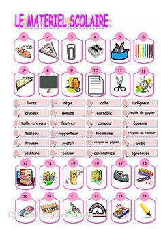 French vocabulary work