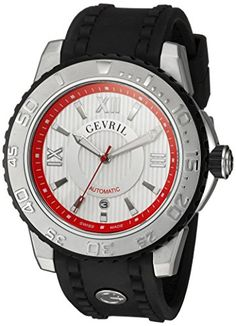 Gevril Men's 3113 Seacloud Analog Display Black Watch