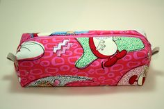 Boxy Makeup Bag - Ren and Stimpy Zipper - Pencil Pouch - Nickelodeon for $12 +s&h by JustPeachyHandmade on Etsy