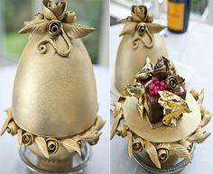 World's Most Expensive Dessert: $34,440 dessert. Lindeth Howe Country House Hotel in Windermere has created the world's most expensive dessert. Made in a Faberge Easter egg style, this dessert is actually a chocolate pudding that is laced with gold leaves, champagne caviar and topped with two karat diamond.