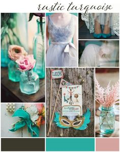 101 Wedding Colour Ideas for your Wedding!!! Rustic Turquoise Wedding, Rustic Wedding Colors, Lilac Wedding Themes, Wedding Color Schemes, Wedding Ideas, Wedding Lavender, Colour Schemes, Wedding Decor, Wedding Planning