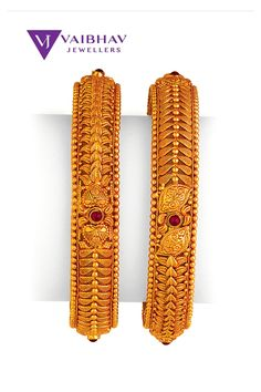 Antique Jewellery Designs, Gold Ring Designs, Gold Bangles Design, Gold Earrings Designs, Gold Jewellery Design, Plain Gold Bangles, Gold Bangles For Women, Indian Gold Bangles, Gold Jewelry Simple