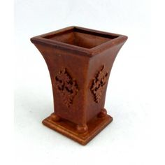 Dolls House Fine Miniature Accessory Walnut Wood Bromley Planter Plant Stand