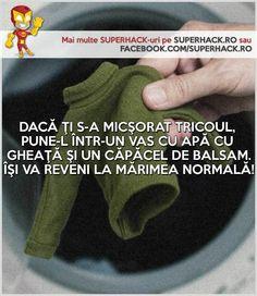 O soluţie pentru tricourile micşorate după spălare! - SuperHack.ro