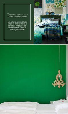 Green decor.