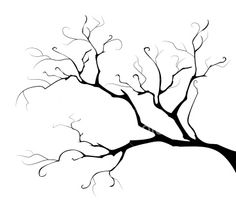 *element of the design blackenning branch tree on white background